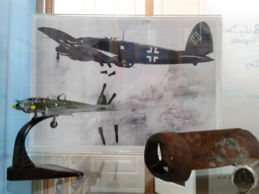 Parts of Heinkel III bomber washed ashore
