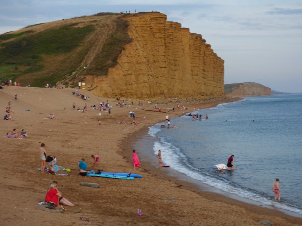 What beaches are there at West Bay?