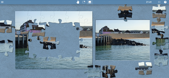 Image showing how to complete a Jigsaw puzzle of West Bay